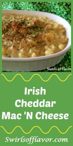 Aged Irish Cheddar cheese and Asiago combine to make this Irish Cheddar Mac 'n Cheese creamy, cheesy and oh so fabulously delicious! The perfect addition to your St. Patrick's Day menu! pasta   dinner   easy   St. Patrick's Day   recipe