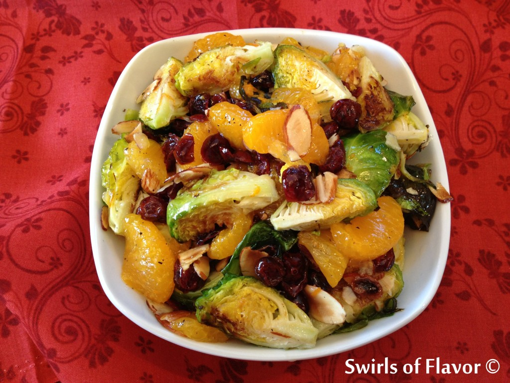 Roasted Brussel Sprouts with Orange Marmalade Vinaigrette