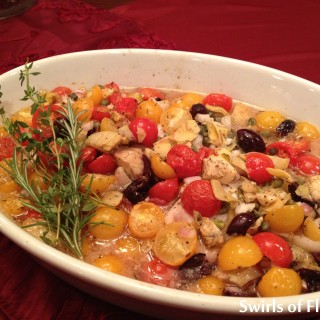 Smothered Tilapia Provencale