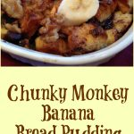 Chunky Monkey Banana Bread Pudding is an easy recipe that's bursting with fresh bananas, chocolate chunks and walnuts making this bread pudding the perfect brunch or dessert indulgence. Top with whipped cream orvanilla bean ice cream and you'll be in heaven with every bite!#easyrecipe #breakfast #brunch #dessert #bananas #chocolate #walnuts #chunkymonkey #baking #entertaining #sundaybrunch #swirlsofflavor