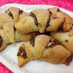 Chocolate Hazelnut Crescents