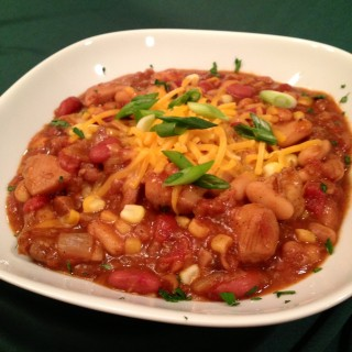 Triple Bean Barbecue Chicken Chili