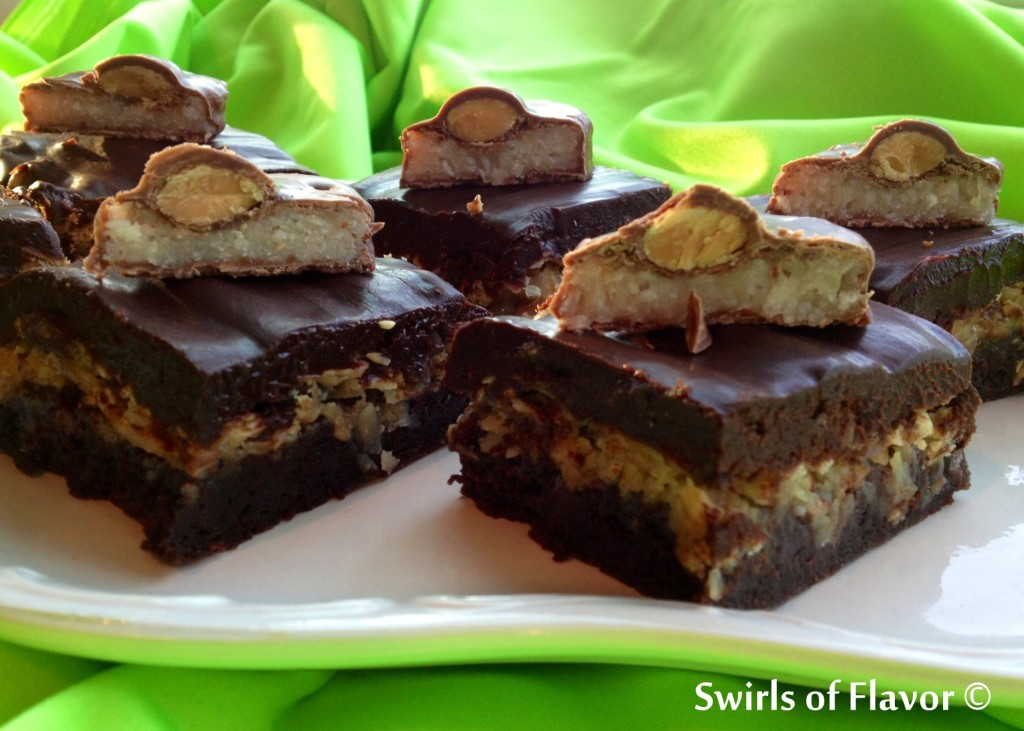 Chewy Candybar Brownie Bars