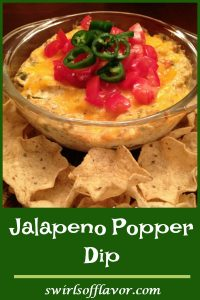 Jalapeno Popper Dip has all the flavors of jalapeno poppers without all the fuss of stuffing each jalapeno! An easy recipe of cheeses, green chiles, jalapenos and spices in a creamy dip.