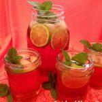 Pomegranate Lime Mint Julep Cocktail