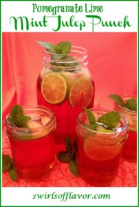 Mint Julep cocktail in mason jars with text overlay