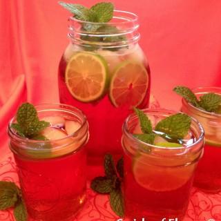 Pomegranate Lime Mint Julep Punch