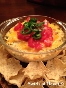 jalapeno popper dip in bowl