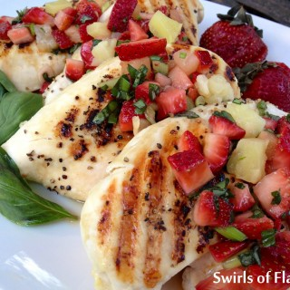 Grilled Chicken Breasts with Strawberry Basil Salsa
