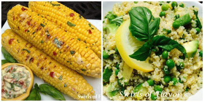 Corn on Cob and Avocado Quinoa