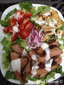 Grilled Steak &b Potato Salad with Dressing