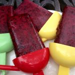 Lime-Scented Blueberry Pomegranate Ice Pops