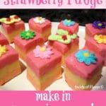 strawberry fudge with sugar flip flops