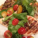 Grilled Chicken Milanese with Lemon Basil Vinaigrette