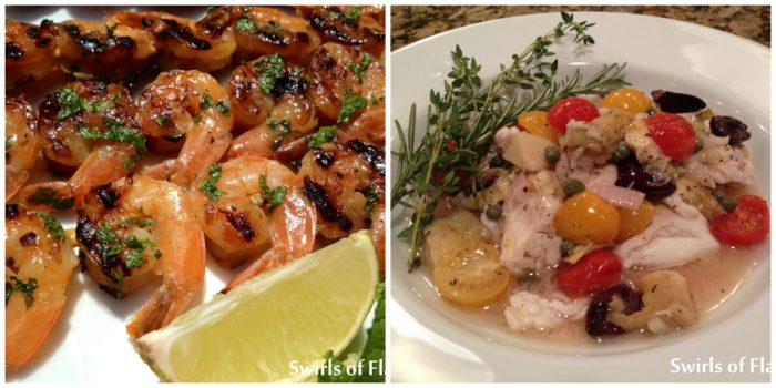 Mojito Shrimp and Smothered Seafood Provencale
