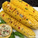 Corn on Cob with Tomato Basil Butter