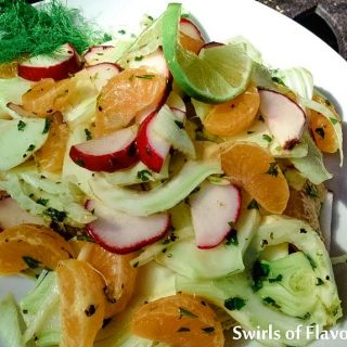 The crunch of fresh fennel, the juiciness of mandarin oranges and the crispness of radishes all come together in a lime-kissed vinaigrette to make Fresh Fennel & Mandarin Salad an amazing combination of flavors and textures.