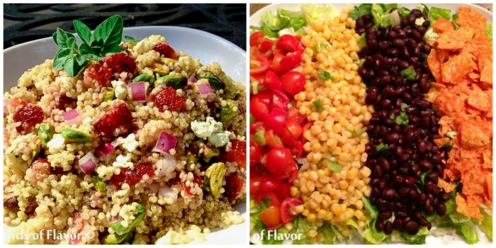 Strawberry Quinoa and mexicali Chopped Salad
