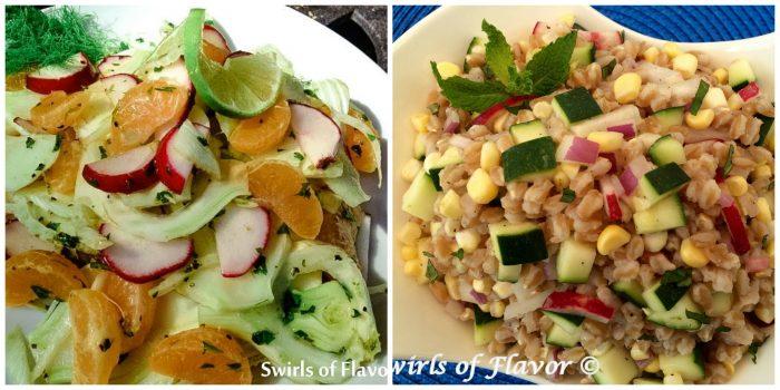 Fennel Salad and Zucchini Farro Salad