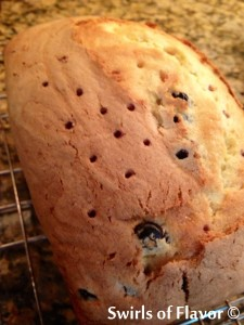 Meyer Lemon Blueberry Pound cake holes