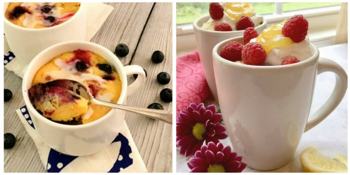 Blueberry Mug Cake and Rapsberry Mug Cake
