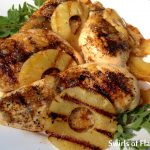 Grilled Pineapple Rum Glazed Chicken Breasts