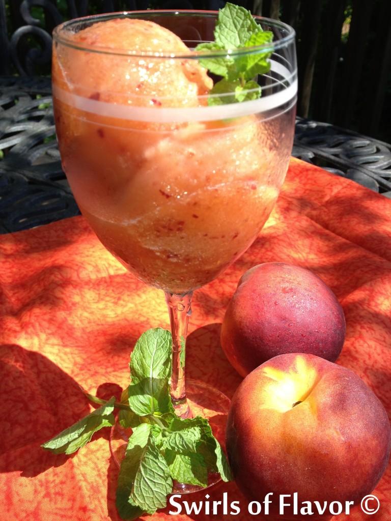 Spiced-Rum-Peach-Lemonade-Sorbet-swirlsofflavor.com