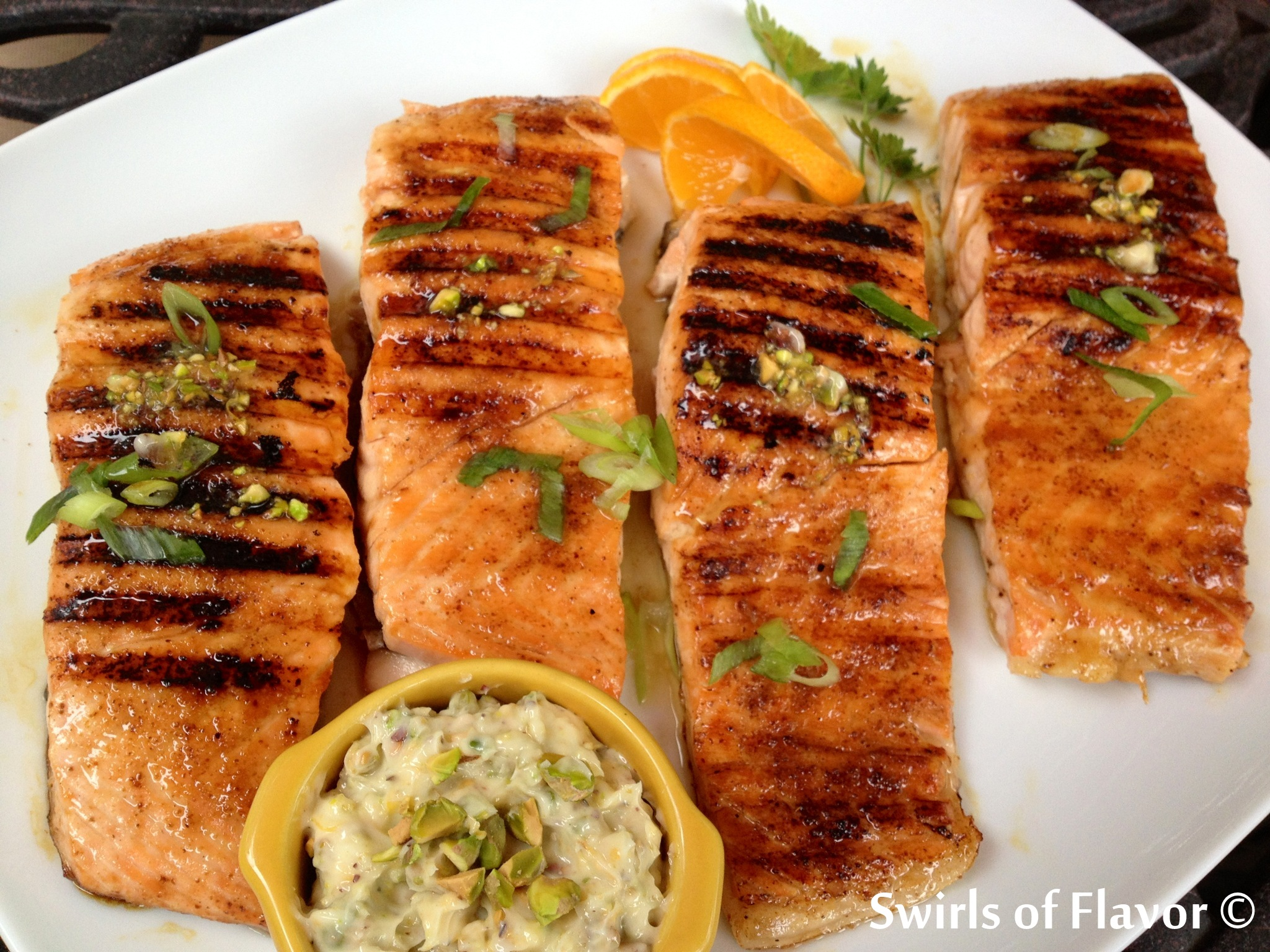 Salmon with Pistachio Butter 2
