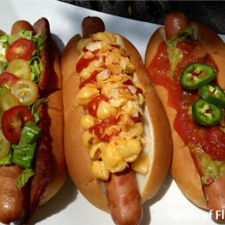 BLT Ranch, BBQ Chip Mac 'n Cheese & Taco Mexicali Hot Dog Trio