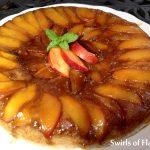 Nectarine Upside Down Skillet Cake