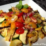 Zucchini Tomato Medley & Orange Mint Vinaigrette
