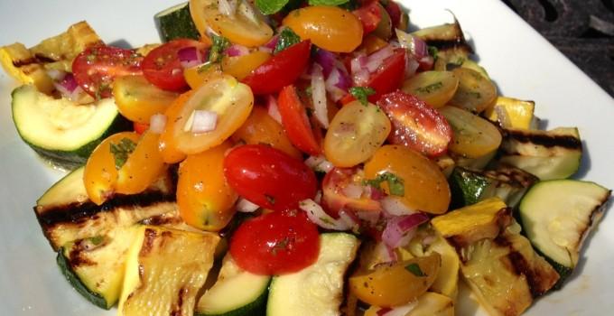 Zucchini Tomato Medley & Orange Mint Vinaigrette