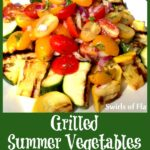 grilled summer vegetables with fresh mint