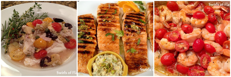 Tilapia, Salmon and Shrimp