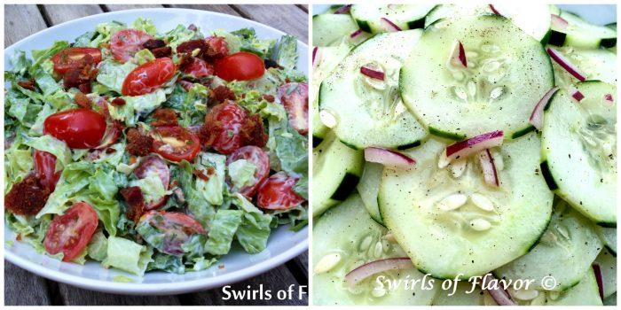 BLT Salad and Cucumber Salad