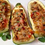 Cheesy Stuffed Zucchini