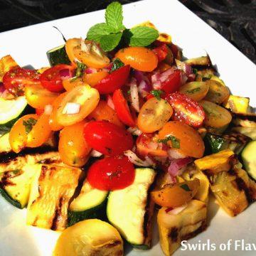 summer vegetables on white dish