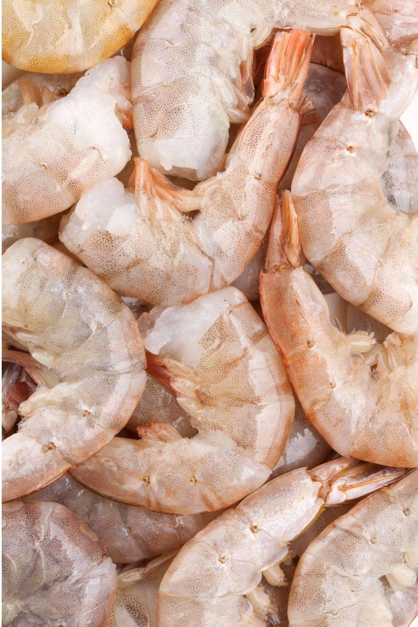 uncooked shrimp in shells