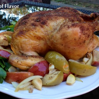 Roasted Cinnamon Apples 'n Chicken