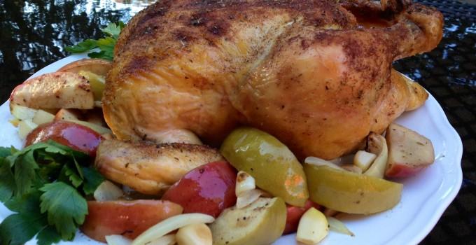 Roasted Cinnamon Apples 'n Chicken