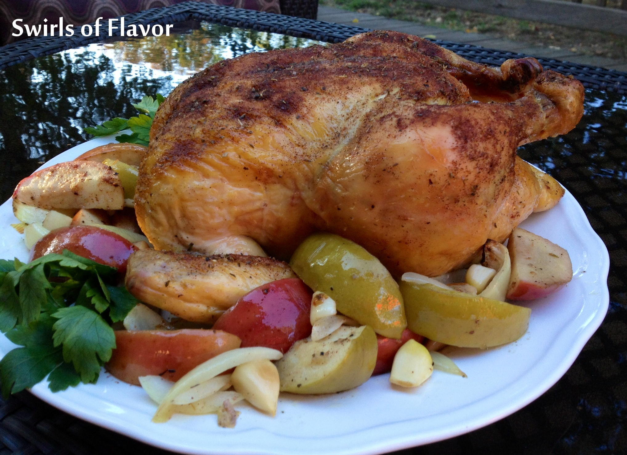recipe: baked chicken and apples and onions [16]..