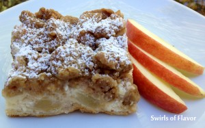 Apple Crumb Pie Cheesecake Bars 1