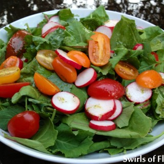 Baby Kale Salad with Honey Lime Vinaigrette