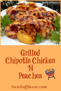 peaches and chicken grilled with chili sauce