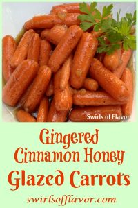 Gingered Cinnamon Honey Glazed Carrots is an easy stove top recipe for bab