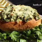 Ranch Artichoke Spinach Dip in Bread Bowl