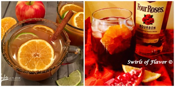 Mulled Apple Cider and Pomegranate Bourbon
