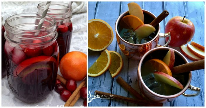 Cranberry Sangrai and Apple Cider Moscow Mules