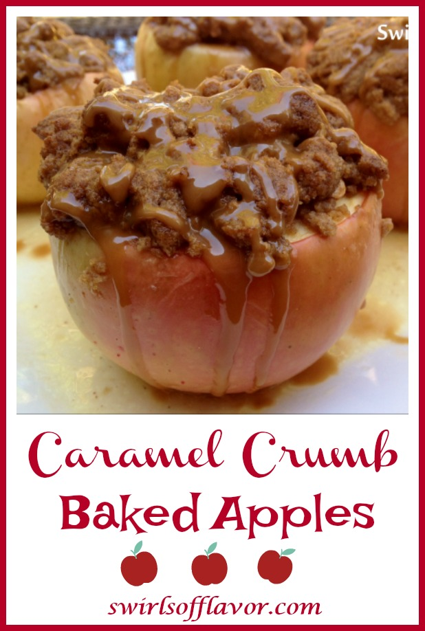 Caramel Crumb Baked Apples