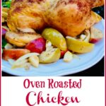 cinnamon chicken and apples with text overlay